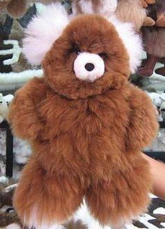 Teddy Bär aus, braun weißes Fell, 35 cm | Produkte aus Peru | Scoop.it