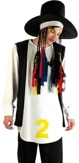 Mens 80's Pop Star Boy George Fancy Dress Costume | Fancy Dress Ideas | Scoop.it