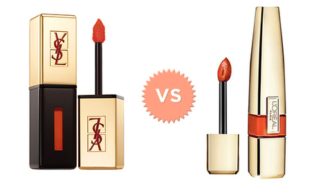 Lip Gloss Smackdown: YSL Glossy Stain Vs. L'Oreal Colour Caresse Wet Shine Stain | Beauté | Scoop.it