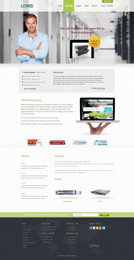 Utris - Free Web Hosting PSD Website Template | Web Design Freebies | Scoop.it