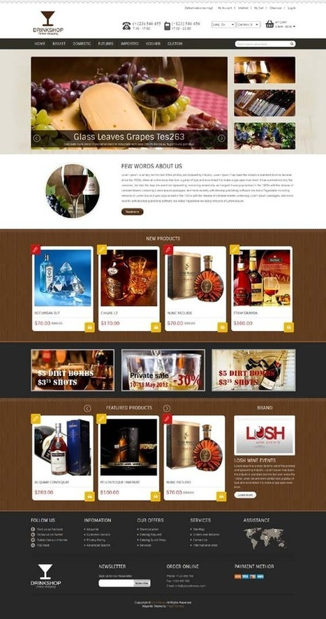 Drink Shop, Magento Responsive Retina Restaurant Theme | Premium Download | Premium Magento Themes | Scoop.it