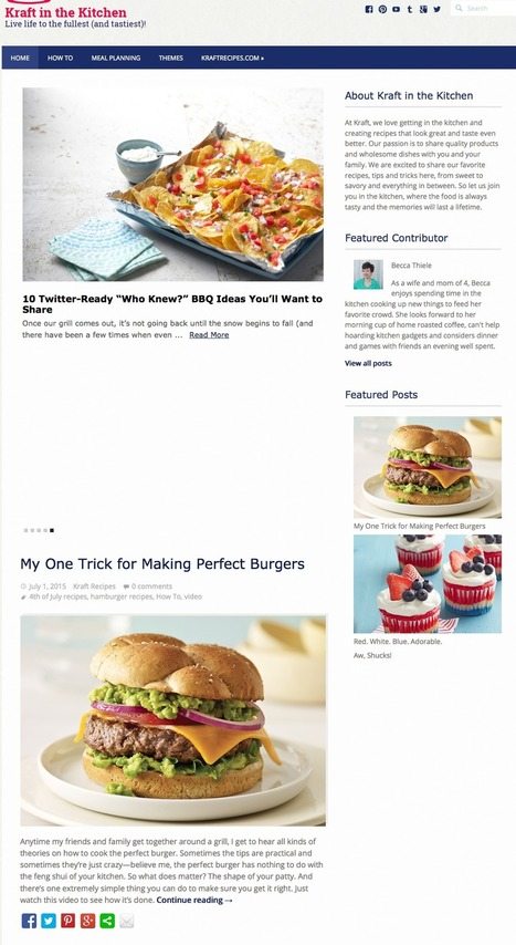 Why Kraft's content strategy generates 1.1bn impressions a year | Digital Brand Marketing | Scoop.it
