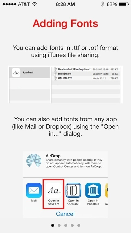 AnyFont lets you install additional fonts on your iPhone | Best iPhone Applications For Business | Scoop.it
