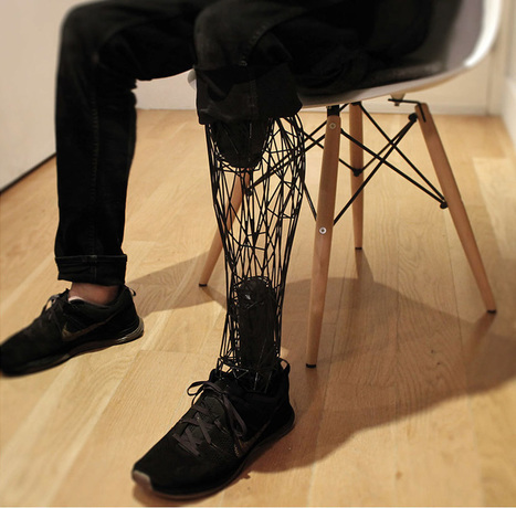 3D printed exo-prosthetic leg becomes a customizable body part - designboom | architecture & design magazine | 3D and 4D PRINTING | Scoop.it
