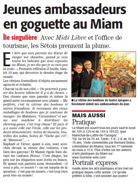 Axelle nous fait découvrir les vitrines du MIAM | Sète Tourisme : les ambassadeurs-reporters sur le terrain | Scoop.it