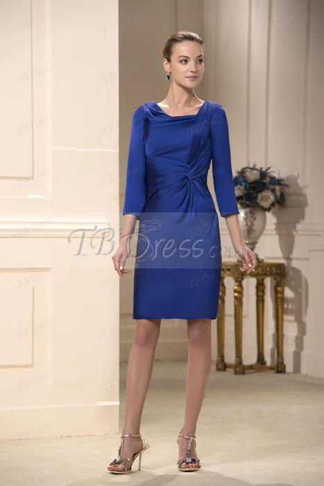 Ruched A-Line Square Neckline Knee-Length Mother Dresses | skirt | Scoop.it