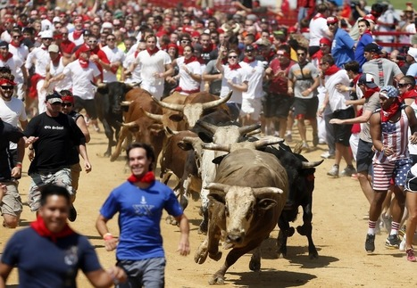 'Exhilarating': 4,000 run from the bulls in US event modeled after Pamplona | AboutBC - Cultura y Ciencia | Scoop.it