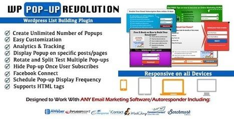 WP PopUp Revolution-WordPress List Building Plugin   Best Wordpress Plugins   Scoop.it