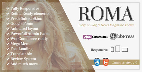 ROMA - Elegant Blog & News Magazine Theme (News / Editorial) - Creative WordPress Theme | Creative Wordpress Theme | Scoop.it