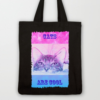 Cool Summer Cat Tote Bag by FlaminCat Designs | New From Society6 | Scoop.it