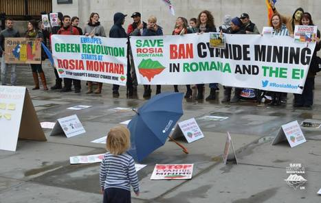 9th protest in London RosiaMontana,7th concomitent global protest | Facebook | Save Rosia Montana | Scoop.it