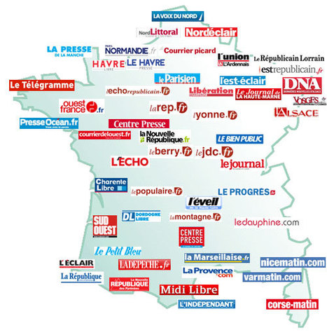 Presse Quotidienne Régionale - Carte - Guide Presse | Remue-méninges FLE | Scoop.it