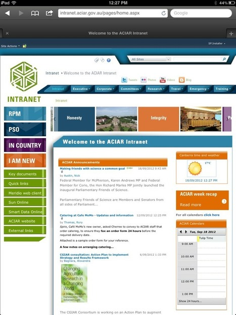 Australian Centre for International Agricultural Research - Synergy Case Study | Mobile intranet examples | Scoop.it