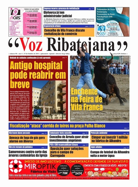 Já está nas bancas mais uma edição do Voz Ribatejana   Xira News   Scoop.it