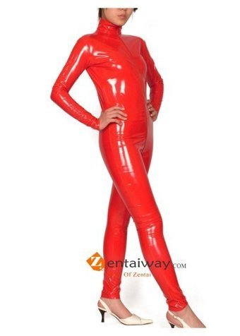 Red Pvc Catsuit [b039] - $39.00 : zentaiway.com | Sexy PVC Catsuits | Scoop.it