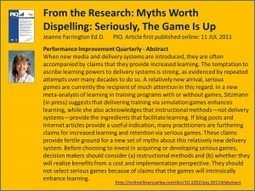 Seriously, The Game Is Up – What Does the Research Say About SeriousGames? | Clinical Simulation | Scoop.it