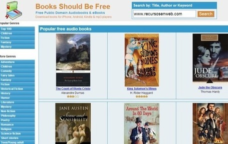 Books Should Be Free, audiolibros para descargar o escuchar online | Las TIC y la Educación | Scoop.it