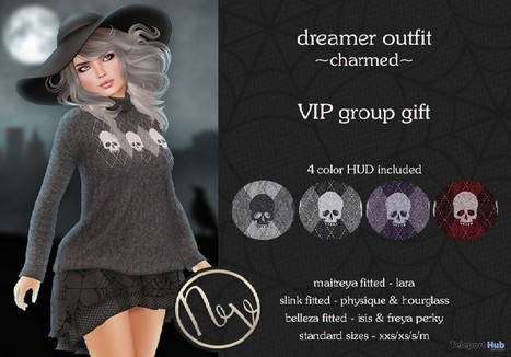 Dreamer Outfit Charmed Halloween 2016 Group Gift by Neve | Teleport Hub - Second Life Freebies | Second Life Freebies | Scoop.it