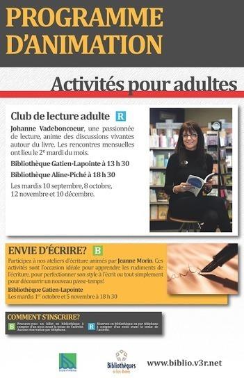 Société des écrivains de la Mauricie: Club de lecture | Trifluviana (Bibliothèques de Trois-Rivières) | Scoop.it