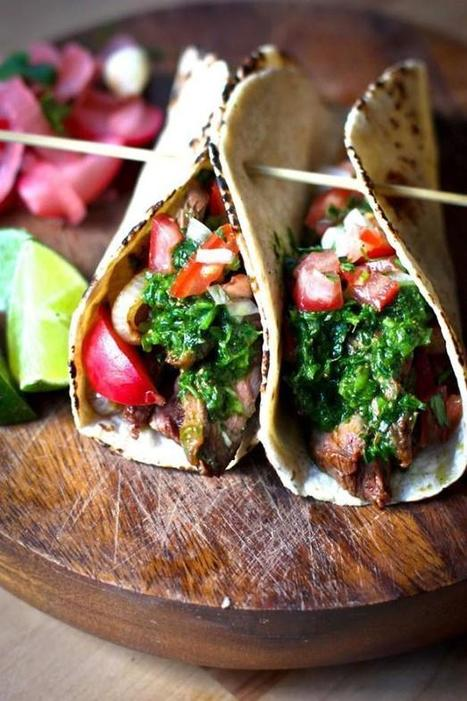 Grilled Steak Tacos With Cilantro Chimichurri Sauce | Daily Dose of Creativity | Scoop.it