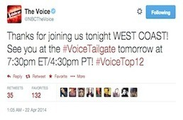 'The Voice' launches #VoiceTailgate social pre-show | screen seriality | Scoop.it