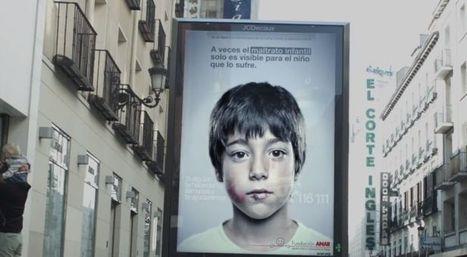 Une affiche publicitaire anti-maltraitance seulement visible par les enfants | WebMarketing & Social Media | Scoop.it