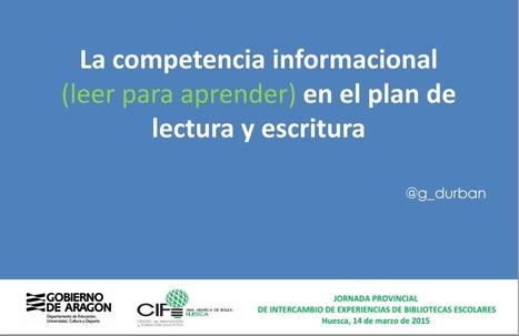 bibliotecaescolar.info : Competencia informacional en el Plan de Lectura de Centro y contribución de la biblioteca escolar como agente formativo | Competencias | Scoop.it