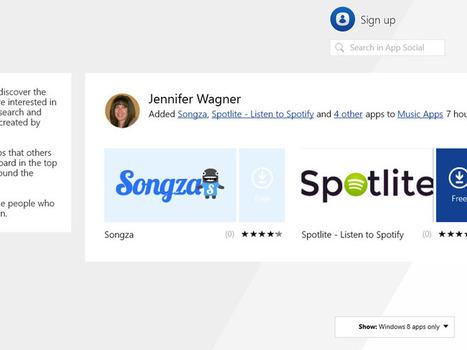 Windows 8.1 App Watch: App Social | Windows 8 Apps | Scoop.it
