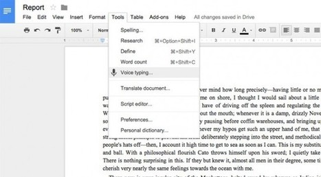 Google Docs Voice Typing lets you speak instead of type | ExtremeTech | Educationally Insightful Minds | Scoop.it
