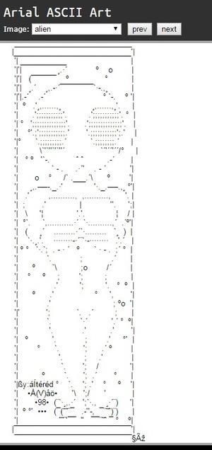 Arial ASCII Art Gallery | ASCII Art | Scoop.it
