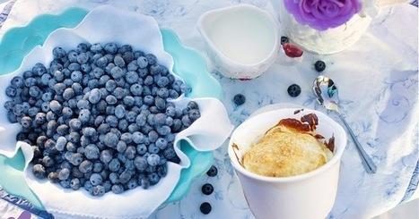 Recette de crème brûlée aux myrtilles ou baies de Saskatoon (Canada) | Desserts street food | Scoop.it