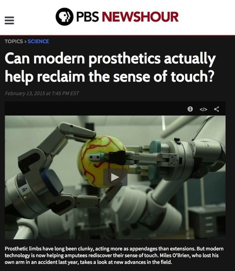 Sensitive prosthetics from Barrett and SynTouch on PBS | The Robot Times | Scoop.it