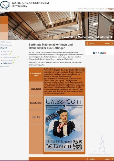 Neue Virtuelle Studienorientierung an der Universität Göttingen: Mathematik im Profil Lehramt | Recrutainment Blog | Zentrum für multimediales Lehren und Lernen (LLZ) | Scoop.it