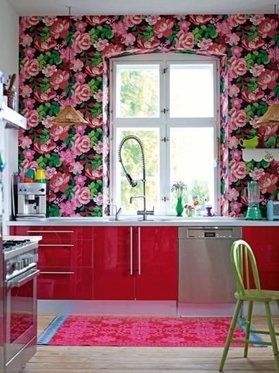 { Today I ♥ } Ce magnifique papier peint à fleurs ! | décoration & déco | Scoop.it