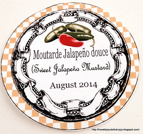 Sweet Jalapeno Mustard Labels - Reader Featured Project - The Graphics Fairy   Decoupage   Scoop.it
