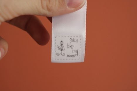 DIY clothing labels - Sew Like My Mom | Creating a Special Clothing Printed Labels | Scoop.it