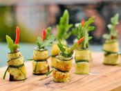 Zucchini Rolls with Goat Cheese and Mint | Serious Eats : Recipes | À Catanada na Cozinha Magazine | Scoop.it