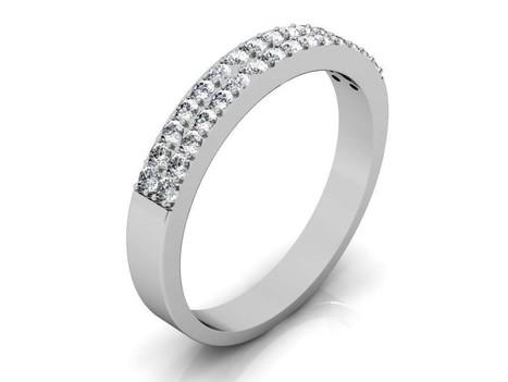 14k White Gold 0.30 Carat Diamond Ring - DR45 | Gemstone and Diamond Jewellery | Scoop.it