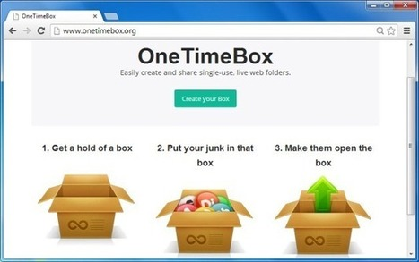 Create A Disposable Folder For Online File Sharing With OneTimeBox | Business & Productivity Tools | Scoop.it