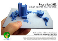 World Population 2050- a data sculpture | Sustainable Futures | Scoop.it