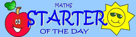 Starter Of The Day | Mathzlinks | Scoop.it