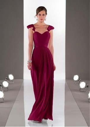Gracefule Spaghetti Straps Natural Full Length A-line Bridesmaid Dresses | Wedding Dresses | Scoop.it
