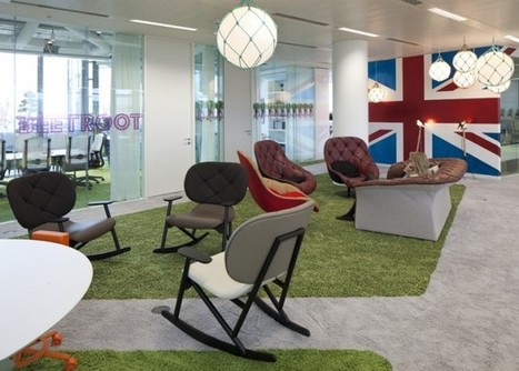 Google London Office - with Green shag area rugs in meeting areas   Workplaces of the Future   Scoop.it
