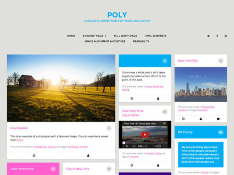 New theme: Poly | WordPress and Annotum for Education, Science,Journal Publishing | Scoop.it