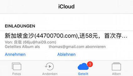 Nach Werbung im Kalender: Spam-Einladungen zur iCloud-Fotofreigabe   Mac in der Schule   Scoop.it