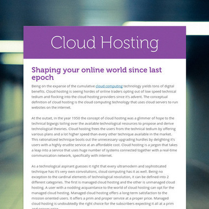 Cloud Hosting | Choosing the Right Domain Name Registration Service | Scoop.it