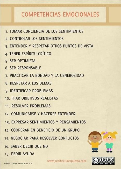 17 Competencias emocionales para enseñar a tus alumnos | Educación y habilidades comunicativas | Scoop.it