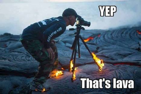 Extreme Photographer Takes a Viral Portrait Over Hot Lava with His Feet on Fire   euronews Generation Y   Scoop.it