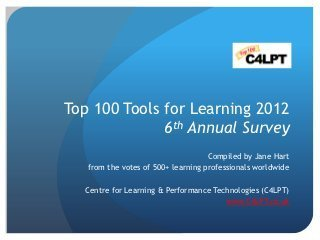 Top 100 Tools for Learning 2012 | The Best Of Web 2.0 | Web 2.0 Tools - DM | Scoop.it