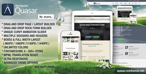 Quasar - Wordpress Theme with Animation Builder - WordpressThemeDB | WordpressThemeDatabase | Scoop.it